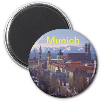 München-Magnet Runder Magnet 5,7 Cm