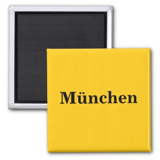 München Magnet Schild Gold Gleb Quadratischer Magnet