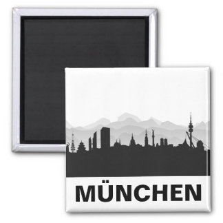 München Skyline Kühlschrank Magnet