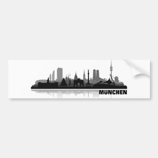 München Stadt Skyline - Autoaufkleber