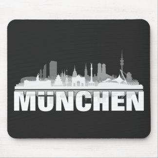 München Stadt Skyline - Geschenkideen Mauspad