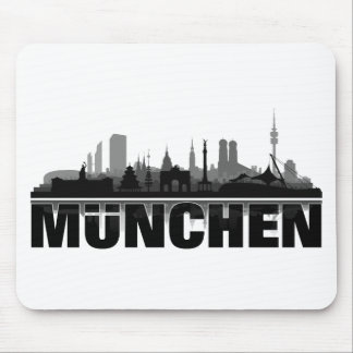 München Stadt Skyline - Geschenkideen Mousepad