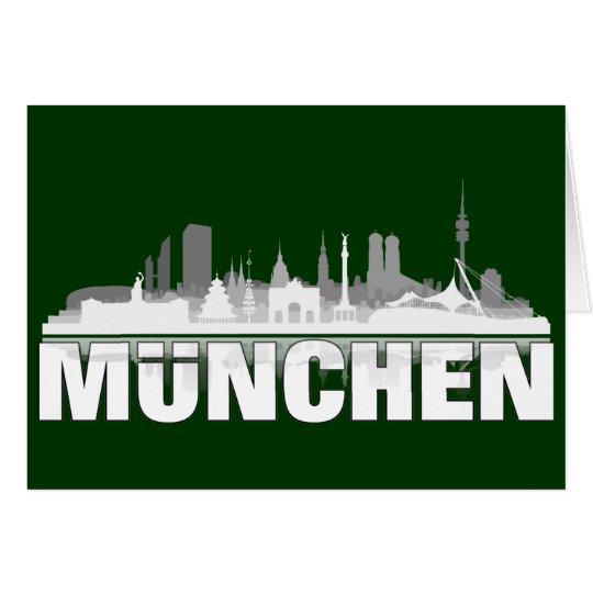 München Stadt Skyline - Klappkarte / Einladung