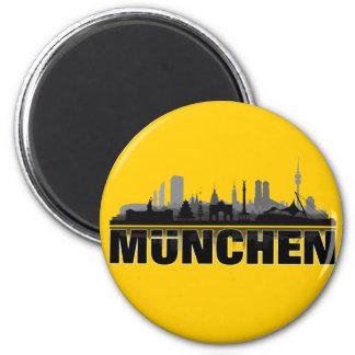 München Stadt Skyline - Magnet / Kühlschrankmagnet
