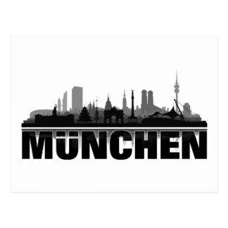 München Stadt Skyline - Postkarten