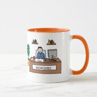 Munchies - personalisierte Cartoon-Tasse Tasse