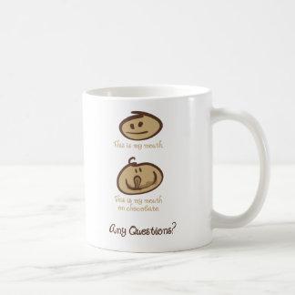 Mund auf Schokolade Kaffeetasse