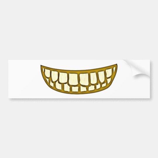 Mund Zähne Grinsen mouth teeth grin Autoaufkleber
