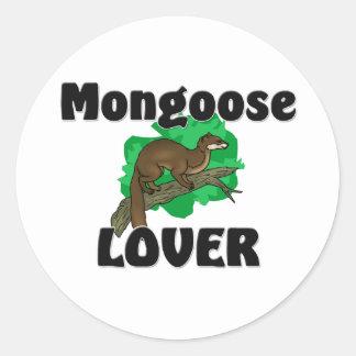 Mungo-Liebhaber Runder Aufkleber