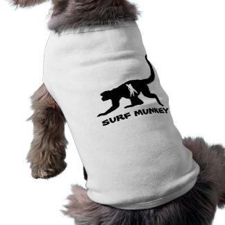 Munkey mit Shortboarder Tätowierungsentwurf T-Shirt