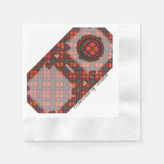 Munro Clan karierter schottischer Tartan Papierserviette