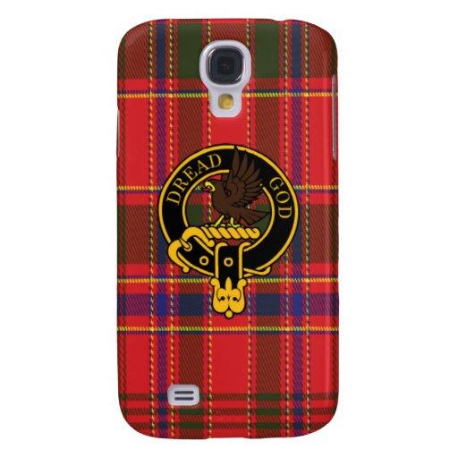 Munro schottisches Wappen und Tartan Samsung rufen Galaxy S4 Hülle