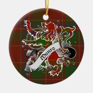 Munro Tartan-Löwe Keramik Ornament