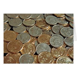 Münzen Mitteilungskarte