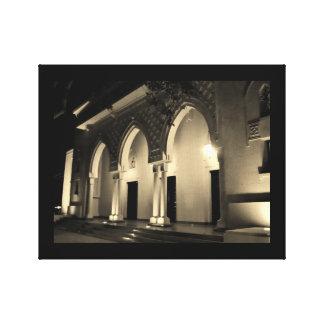 Murabba-Palast-Bögen nachts Leinwanddruck