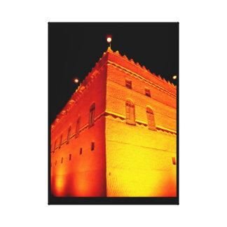 Murabba-Palast nachts Leinwanddruck