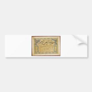 Murakka (kalligraphisches Album) durch Hafiz Osman Autoaufkleber
