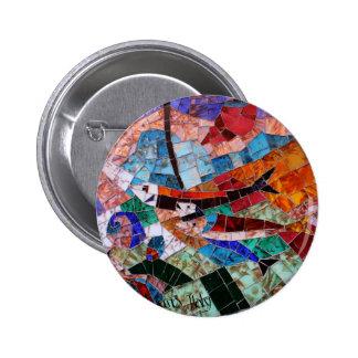 Murano Mosaik Anstecknadelbuttons