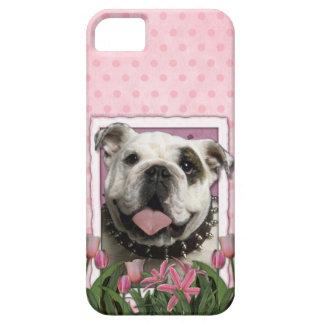 Murmeln-Umbau - Rosa Tulpen - Bulldogge iPhone 5 Hülle