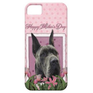 Murmeln-Umbau - Rosa Tulpen - Deutsche Dogge - iPhone 5 Schutzhülle