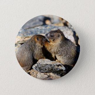 Murmeltier Runder Button 5,7 Cm