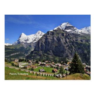 Mürren, die Schweiz - Schweiz Postkarte