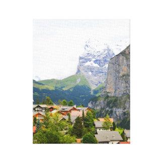 Murren in der Schweiz Leinwanddruck