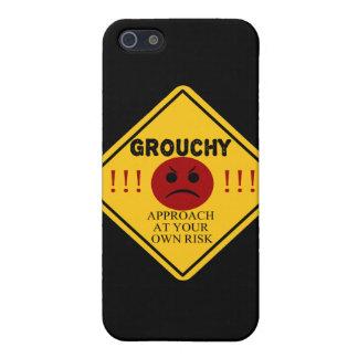 Mürrisch. Annäherung auf eigene Gefahr Hülle Fürs iPhone 5