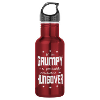 MÜRRISCH, weil HUNGOVER (weiß) Trinkflasche