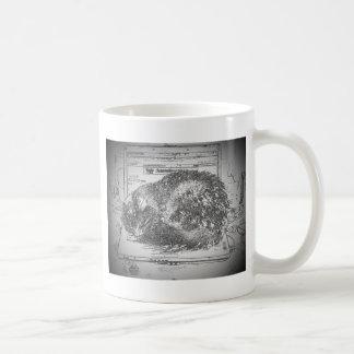 Mürrische Engels-Laptopschosskatze Kaffeetasse