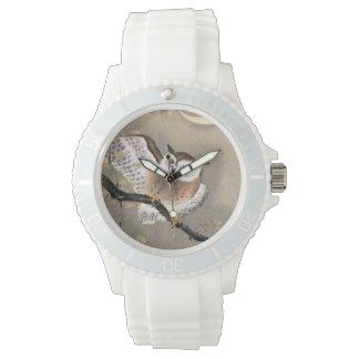 Mürrische Eule Armbanduhr