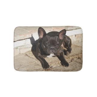 Mürrische französische Bulldogge Badematte