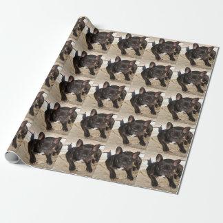 Mürrische französische Bulldogge Geschenkpapier