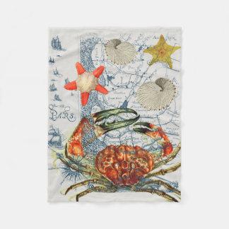 mürrische Karte Starfish Fleecedecke