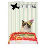 Mürrische Katze - alles- Gute zum Geburtstagkarte Grußkarten