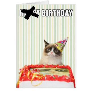 Mürrische Katze - alles- Gute zum Geburtstagkarte Karte