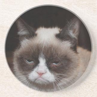 Mürrische Katze Costers v3 Getränkeuntersetzer