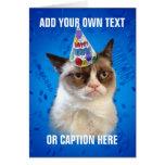 Mürrische Katze Customizeable alles Gute zum Gebur Karten