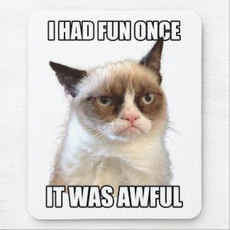Mürrische Katze Mousepad 'ich hatte Spaß einmal. E