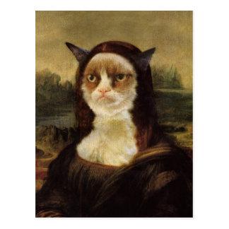 Mürrische Katze Postkarte