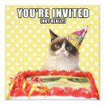 Mürrische Katzen-Einladungen - Sie werden