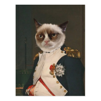 Mürrische Katzen-klassische Malerei Postkarte