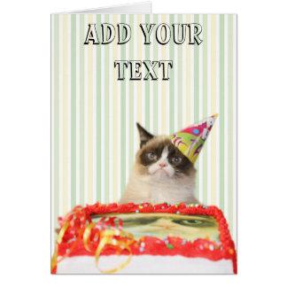 Mürrische Katzen-Party-Gruß-Karte - kundengerecht