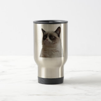 Mürrische Katzen-Reise-Tasse Edelstahl Thermotasse