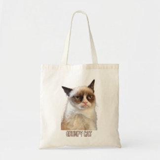 Mürrische Katzen-Tasche - Farbe Budget Stoffbeutel