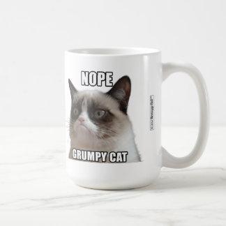 """Mürrische Katzen-Tasse - NOPE. MÜRRISCHER CAT """""""