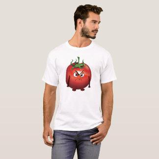 Mürrische rote Tomate auf weißem Hintergrund T-Shirt