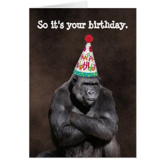 Mürrischer Gorilla Yay Geburtstag Karte