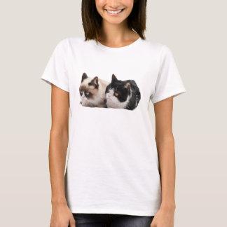 Mürrischer Katzen-und Pokey-T - Shirt