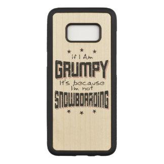 MÜRRISCHER nicht SNOWBOARDING (Schwarzes) Carved Samsung Galaxy S8 Hülle